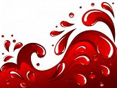 Vector of red splash and drops