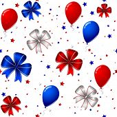 Vector of 4th of july seamless background