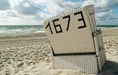 Beachchair on the island sylt, germany.