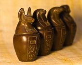 Canopic Jars Figurines
