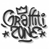 Hip Hop Related Tag Graffiti Influenced Label Sign Logo  Lettering For T Shirt Or Sticker On A White poster