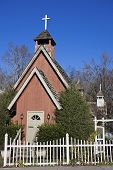 picture of gatlinburg  - Little Church in downtown Gatlinburg Tennessee USA - JPG