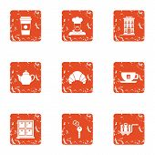 Personal Room Icons Set. Grunge Set Of 9 Personal Room Vector Icons For Web Isolated On White Backgr poster