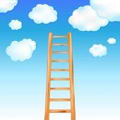 Ladder In Blue Sky