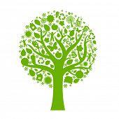 Eco Tree, Isolated On White Background