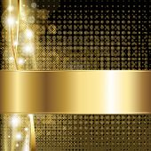 Gold Luxury Background, Vector Illustration