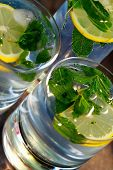 Mojito - alcoholic drink with mint and lemon