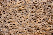 Grunge Sand Stone Texture. Porous Yellow Stone Closeup. Weathered Grungy Surface Photo Background. D poster