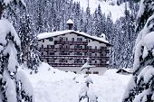 Hotel In Snow Horizontal