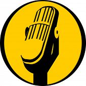 Vector illustration of Vintage microphone icon