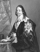 Charles I (1600-1649). Engraved by A.H Payne and published in The National and Domestic History of England, United Kingdom, 1890. poster