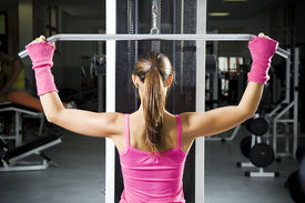 stock photo of workout-women  - health club - JPG