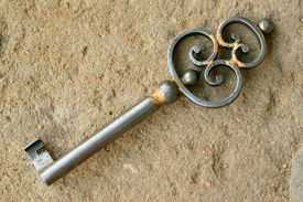 foto of skeleton key  - Vintage  - JPG