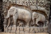 Arjuna's Penance Bas-relief In Mahabalipuram