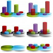 An image of a 3D Venn Column Combination Chart.