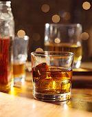 Highball whiskey glass at bar