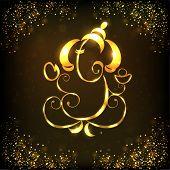 Ilustração criativa e brilhante do Senhor Hindu Ganesha. EPS 10.