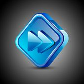 Glossy web 2.0 music icon, next or forward button. EPS 10.