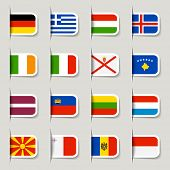 Label - European Flags