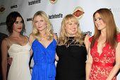 LOS ANGELES - AUG 23:  Lizzy Caplan, Kirsten Dunst, Rebel Wilson, Isla Fisher arrives at the
