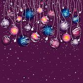 Tarjeta de Navidad púrpura, Vector