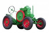 New green model of an old type of tractor