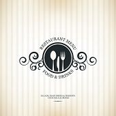 stock photo of diners  - Restaurant menu design - JPG