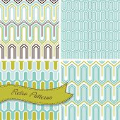 A set of seamless retro patterns. This stylish Mosaic can be used for wallpapers, pattern fills, web