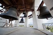Bells in Holy Resurrection church in Vologda, Russia