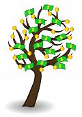 tree of money and gold