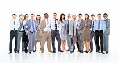 foto of lineup  - Group of business people - JPG