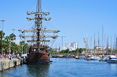 BARCELONA, SPAIN - AUGUST 16: Galleon Andalucia on August 16, 2012 in Barcelona, Spain. During 2012,