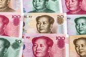 Chinese currency - fifty and hundred yuan background