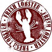 Fresh Lobster Seafood Restaurant Stamp