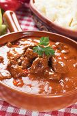 Beef stew or goulash, traditional hungarian meal