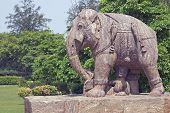 Statue Of An Elephant. Konark Temple