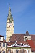 Church Tower In Medias Transylvania Romania