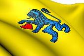 Flagge von Celle, Deutschland.