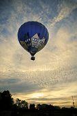 NORTHAMPTON, ENGLAND - AUGUST 18: Hot Air Balloon sunrise launching at the Northampton Balloon Festi