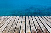 Wooden Dock Besides The Sea