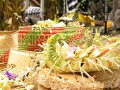 Baskets Of Food Offerings