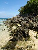 Stones Coastline At Phi-phi Don