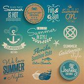 Elementos vintage de verano