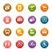 Colored Dots - Airport and Travel icons