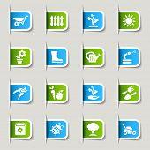 Label - Gardening icons