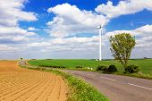 Windturbine in english countryside