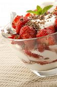 Strawberry Dessert With Some Fresh Yogurt