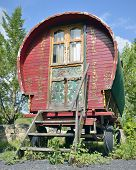 Traditional gypsy caravan