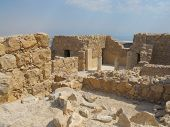 stock photo of masada  - Some old ruin in Masada waiting for a visit - JPG