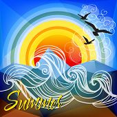 Summer abstract vector illustration